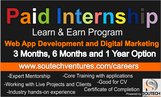 SOUTEC VENTURES Web Application Development and Digital Marketing Careers and Internship in Abuja
