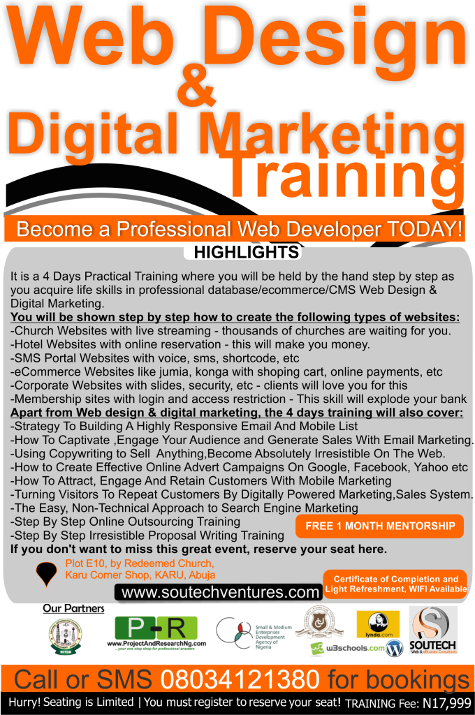 Abuja- Website Design and Digital Marketing Training KARU