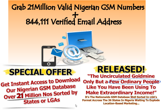 Nigerian Verified GSM and Email Address Database- SOUTECH VENTURES Abuja