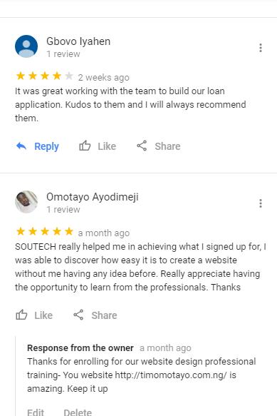 soutech website design training in abuja owerri lagos nigeria 2